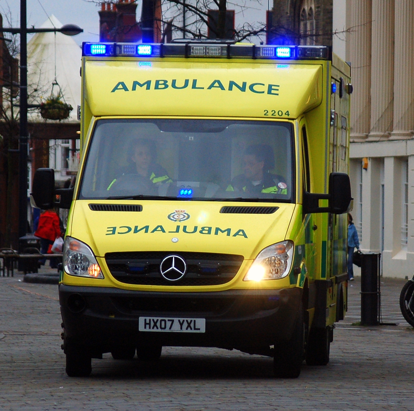 Ambulance with wig wag